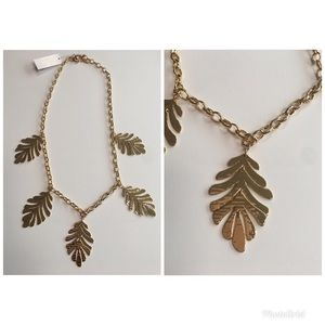 New Kate spade leaf collection necklace 12k gold